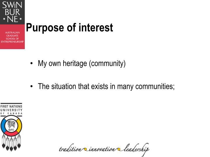 Purpose of interest1