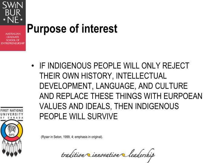Purpose of interest