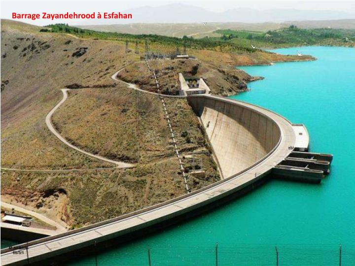 Barrage Zayandehrood à Esfahan