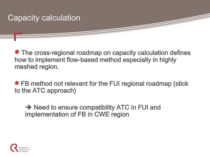 Capacity calculation