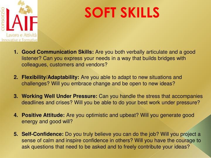Good Communication Skills: