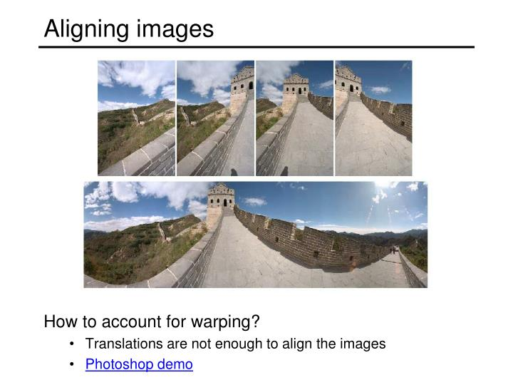 Aligning images