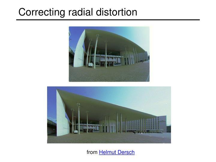 Correcting radial distortion