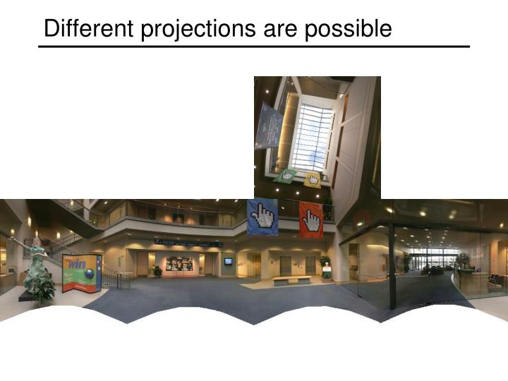Different projections are possible