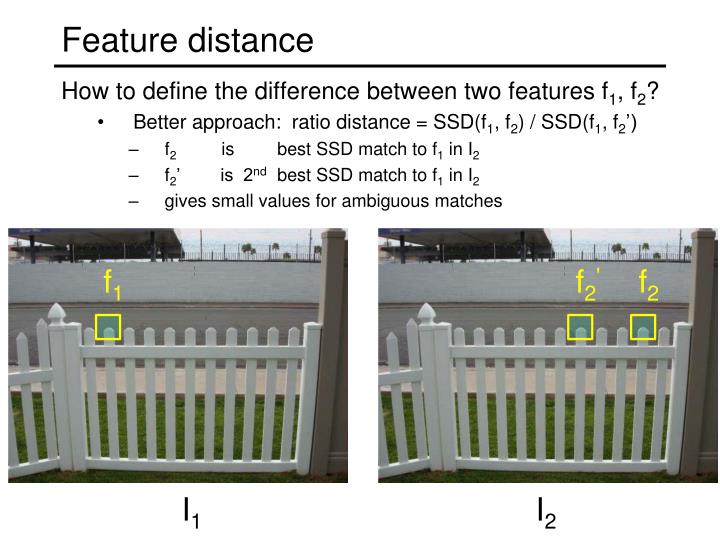 Feature distance