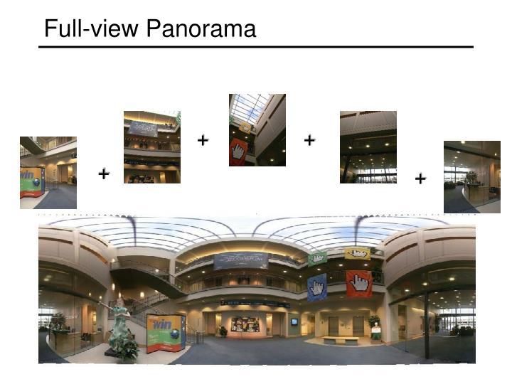 Full-view Panorama