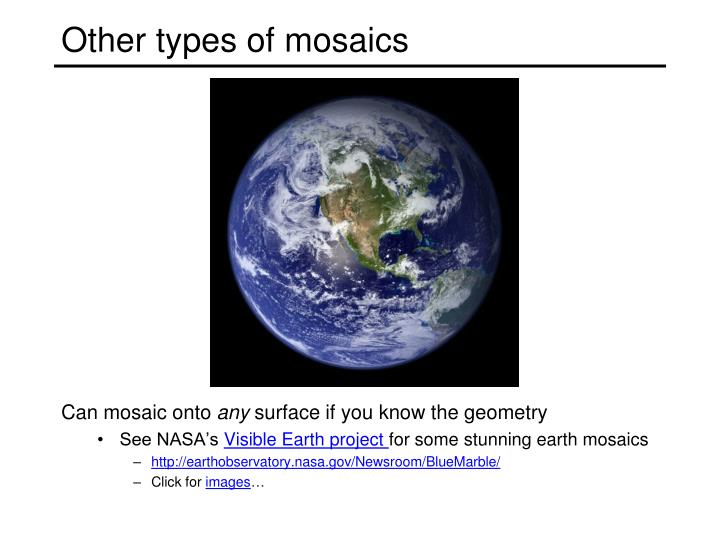 Other types of mosaics