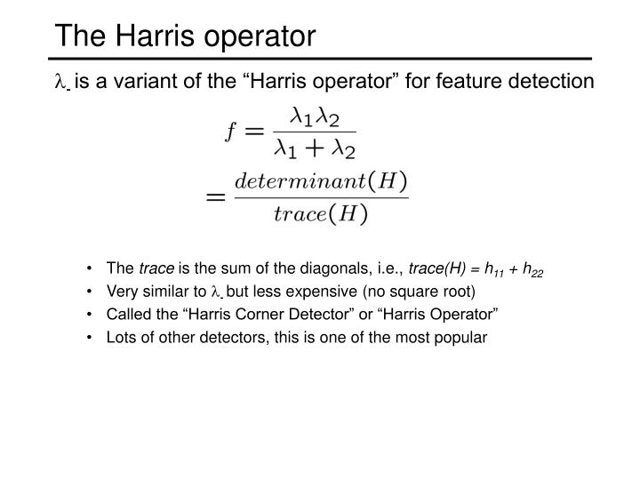The Harris operator
