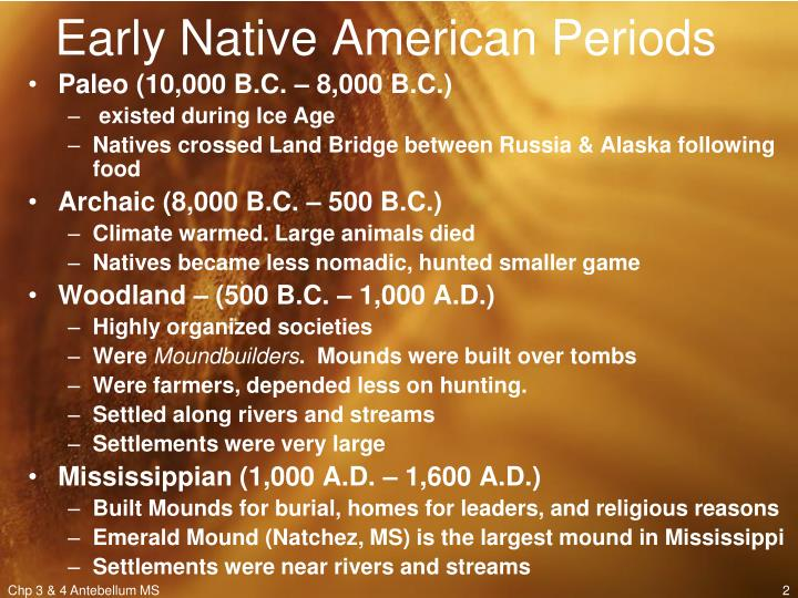 Early native american periods