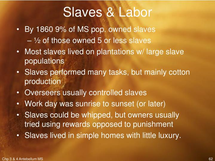 Slaves & Labor