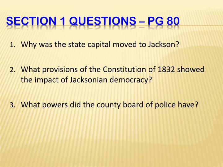 Why was the state capital moved to Jackson?