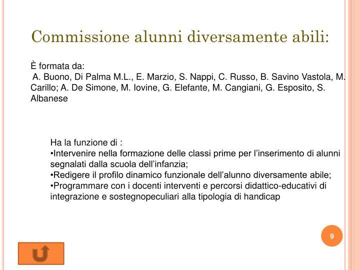 Commissione alunni diversamente abili: