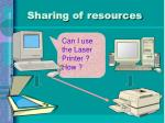 sharing of resources