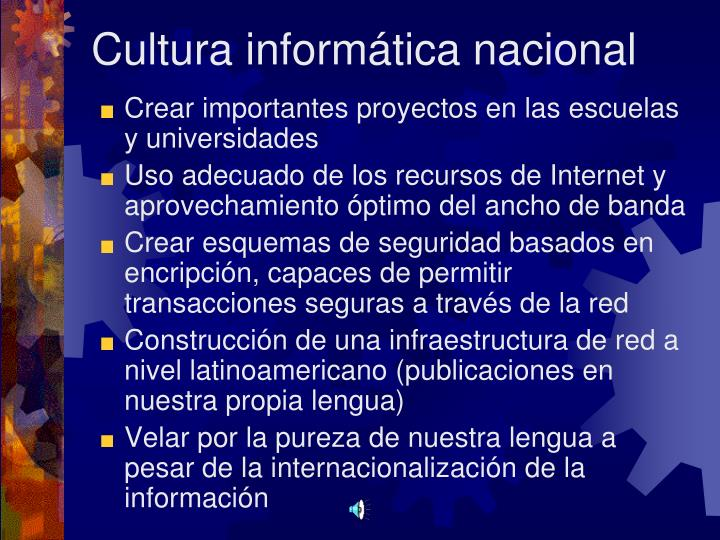 Cultura informática nacional