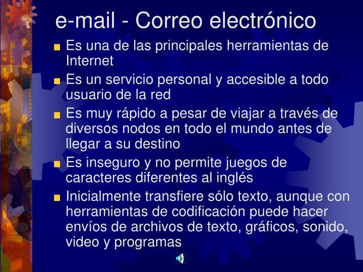 e-mail - Correo electrónico