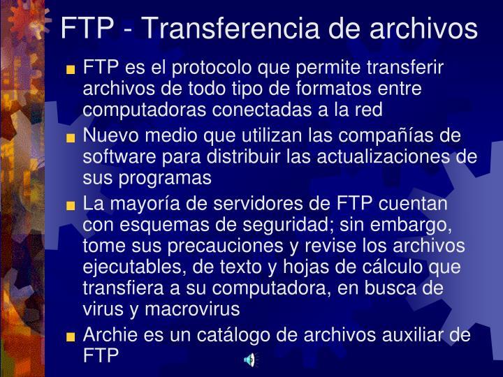 FTP - Transferencia de archivos