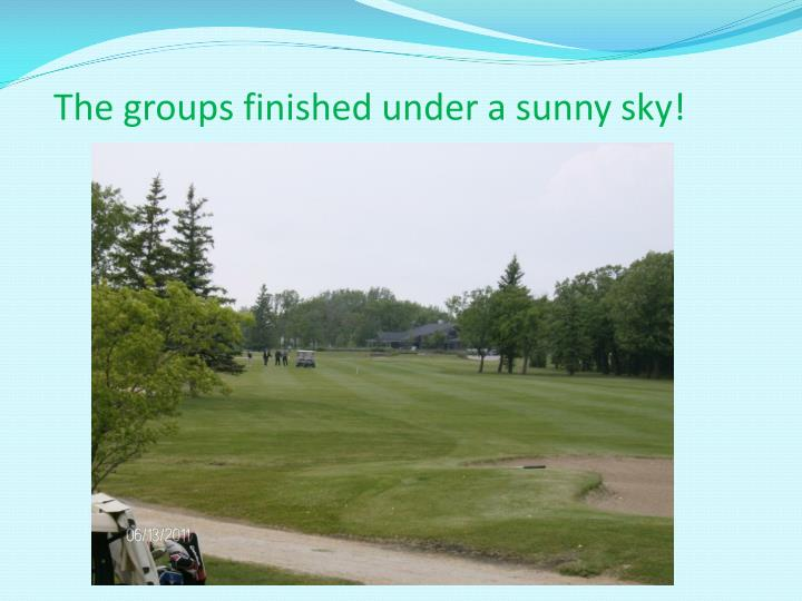 The groups finished under a sunny sky!