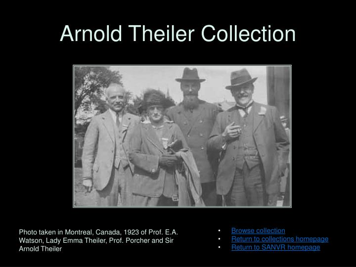 arnold theiler collection n.