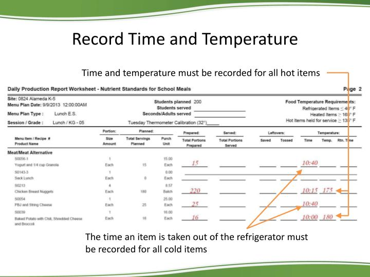 Record Time and Temperature