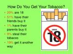 how do you get your tobacco