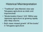 historical misinterpretation