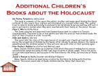 additional children s books about the holocaust