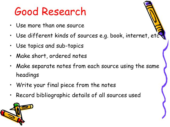 Good Research