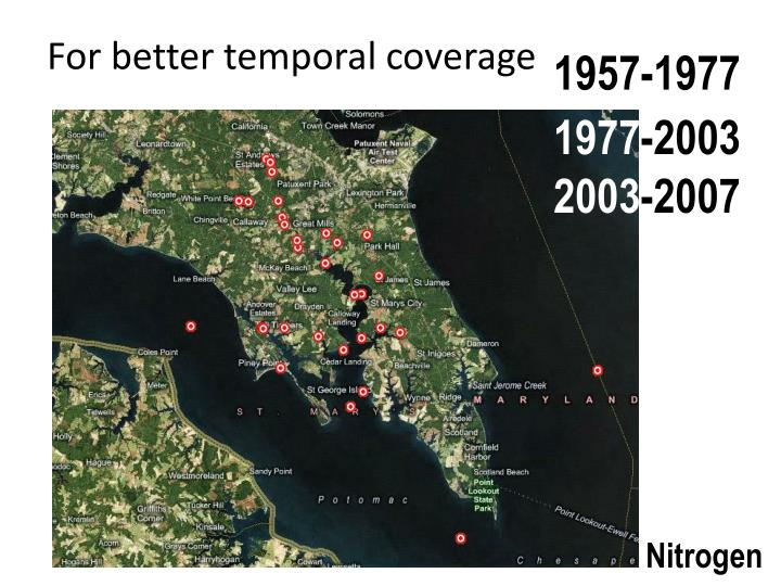 For better temporal coverage