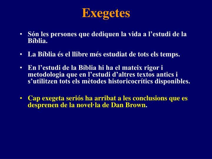 Exegetes