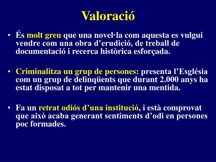 Valoració