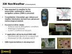 xm navweather in development
