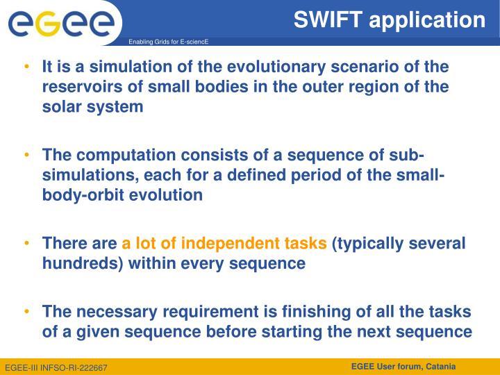Swift application