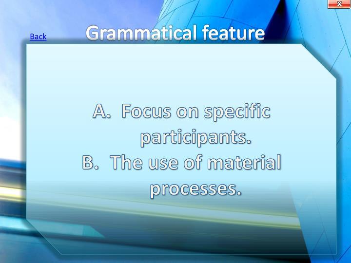 Grammatical feature