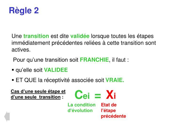 Règle 2