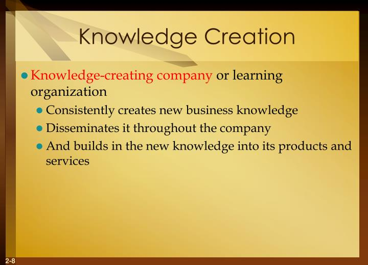 Knowledge Creation