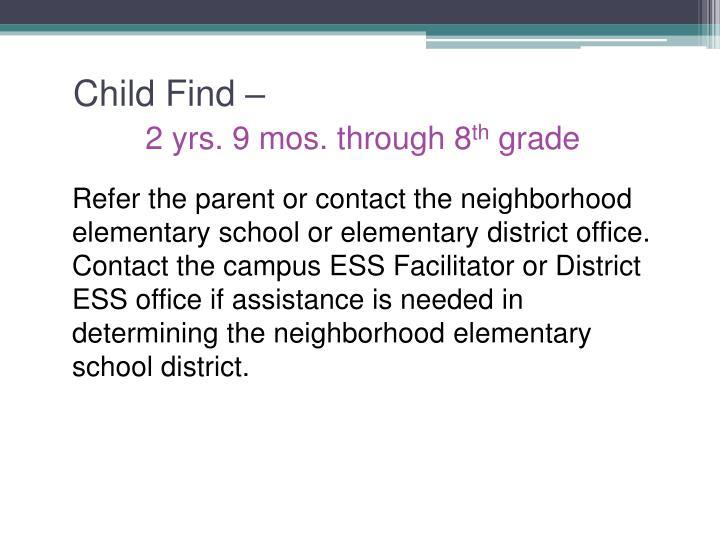 Child Find –