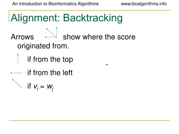 Alignment: Backtracking
