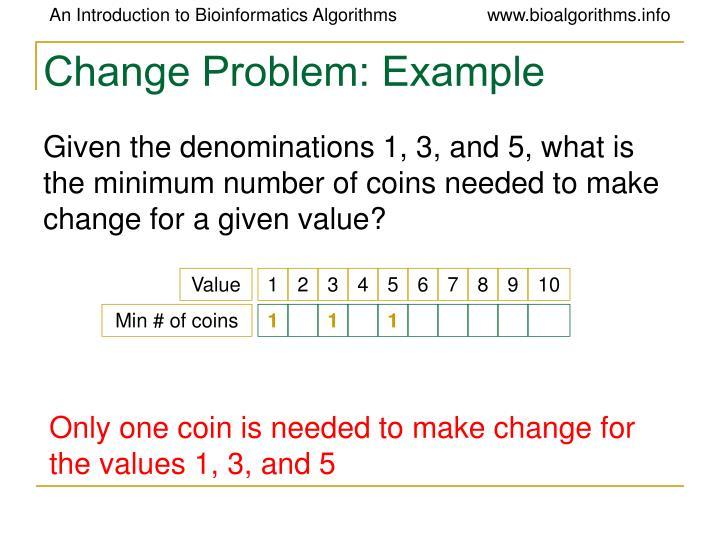 Change problem example