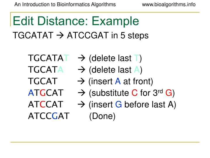 Edit Distance: Example