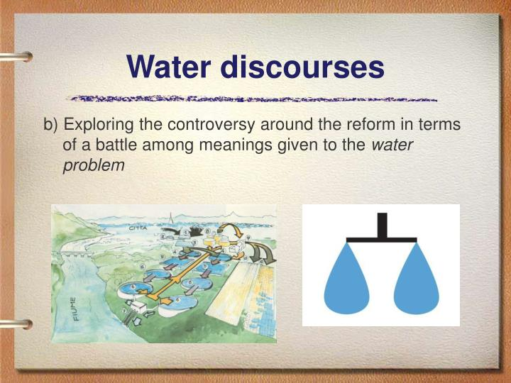 Water discourses