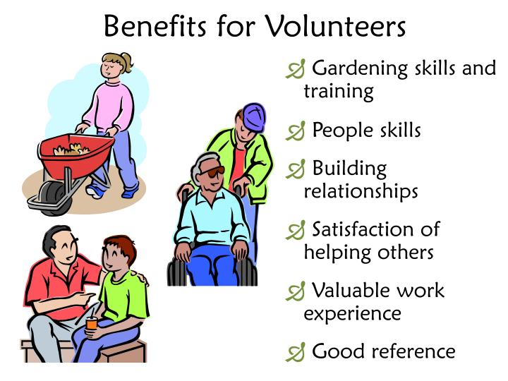 Benefits for Volunteers