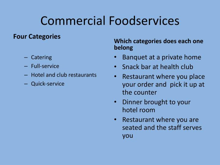 Commercial Foodservices