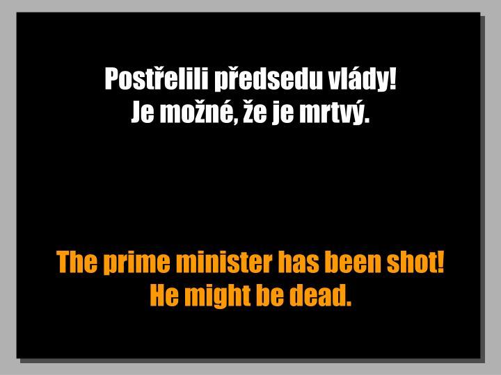 Postřelili předsedu vlády!                              Je možné, že je mrtvý.