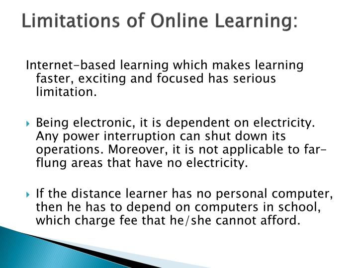 Limitations of Online Learning: