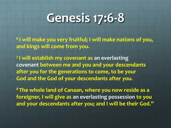 Genesis 17:6-8