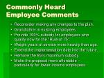 commonly heard employee comments