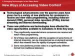 new ways of accessing video content