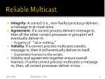 reliable multicast