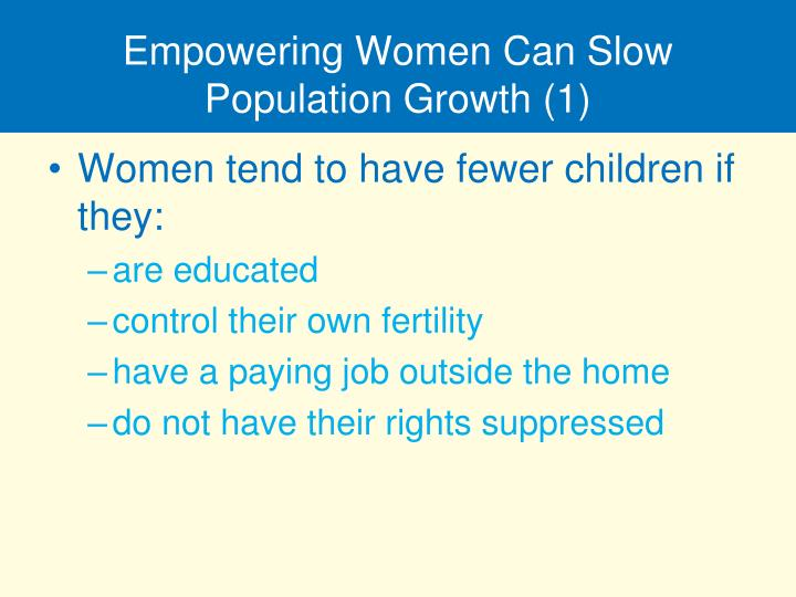 Empowering Women Can Slow Population Growth (1)
