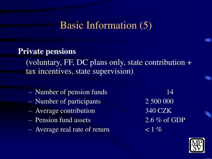 Basic Information (5)